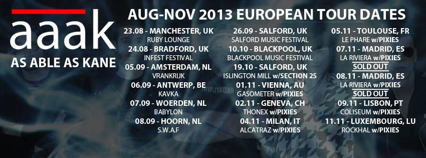 AAAK Euro Tour